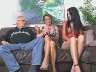 swingeri, matures, sex în trei
