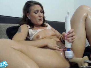 brunette, orgasm, sex toys