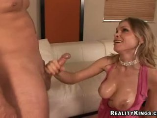 Lusty Blonde Ivana Bianchi Using Her Mouth And Enjoyable Titds To Receive Dong Hard