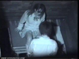 Two giapponese arrapato coppia pubblico sesso