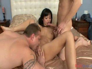Sensuous chińskie slut& guy having zrobiony miłość ciężko core przez inny male