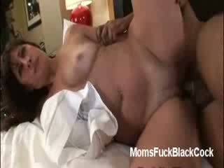 Ebony stud goes hard fucking horny MILF Twany in all fours