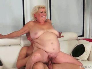 viejo, abuelita, mamada