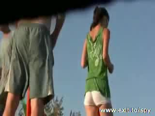 Spying Happy Nudist scenes on the beach Video