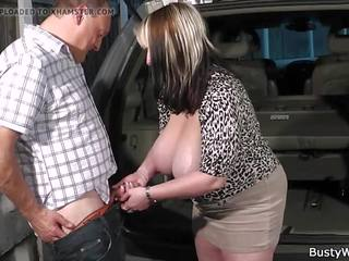 Hot Blowjob Titjob and Sex for Her Boss, Porn 7f