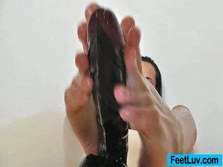 brunete, foot fetišs, pēda