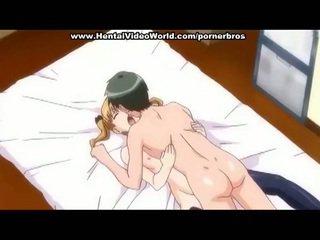 Anime adolescente chica marcas diversión joder en cama