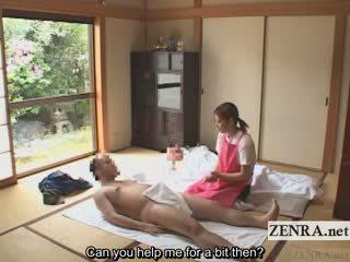 Subtitled fvml japoneze caregiver elderly njeri stimulim me dorë