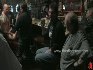 Harmony Rose is used and abused by a bar full of horny drunk bikers