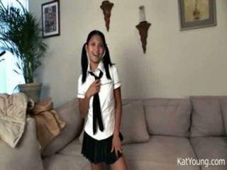 Kat young pigtail asian