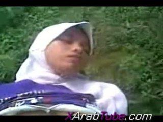 Recorded kön tape med kåta hijab