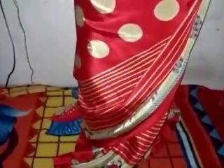 Satin silke saree stuepike, gratis indisk porno video 33