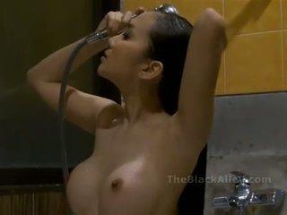dusche, heiß, asiatisch