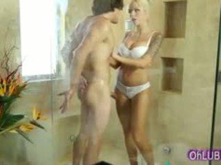 big boobs, blowjob, shower