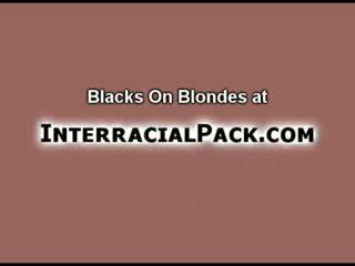 Blondie Analed by ebony Cocks!