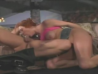 Redheaded floozy audrey hollander gags op meaty schlong poking neer throat