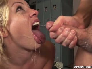 Blond Adrianna Nicole Mouth Fucked Deep And Facialized