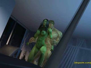 Ella hulk él - ya está es nada como loca enojado sexo!