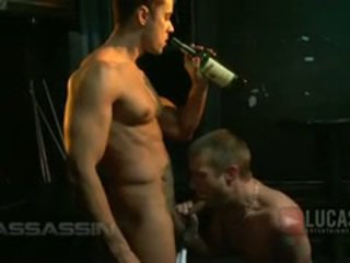 Triple penetration! rafael alencar and braxton bond