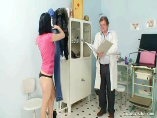 Pavlina Gyno Muff Speculum Investigation On Gynochair At Kinky Clinic