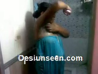 Indian Aunty Bathing Without Showing Boobs