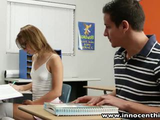 Innocent тийн takes хуй в на classrom