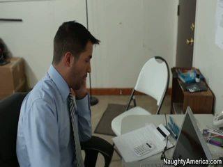 sexo en la oficina, libre de la muchacha roja del porno