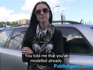 Publicagent ex model sucks en fucks groot lul naar krijgen terug in de bedrijf