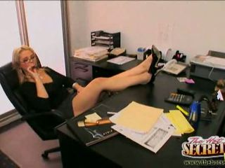 Secretary Sarah Vandella pleasing her boss