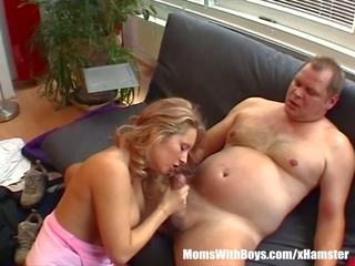 Blonde Mature Maid Fucked in the Living Room: Free Porn ab