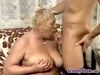 Delivery Boy Fucks A Chubby Grandma