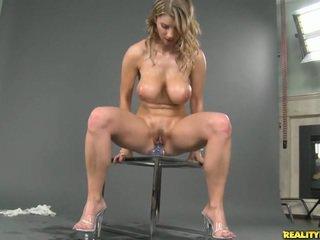 Busty natural titted Katerina masturba...