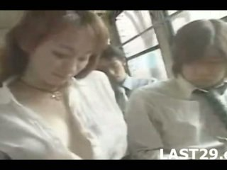 big boobs, japan, bus