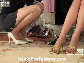 Agatha at ninon mahalay damit na pitis footsex