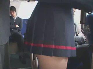 Japońskie macane autobus bukkake
