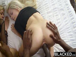 Blacked ensimmäinen rotujenvälinen nelikko varten elsa jean ja zoey monroe