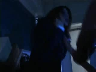 Babe sexy asian girl is caught by horny tentacles in office
