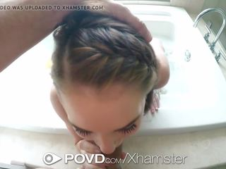 Povd zwaar mondvol na badkamer neuken met raylin ann
