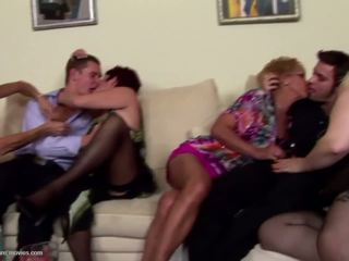 Pissing Group Sex with Mature Moms and Young Sons: Porn e6