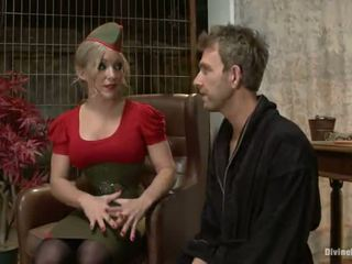 Spicy stor titted blond dia zerva having en fellow strapon bumped i tied vid