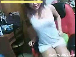 Asyano tinedyer teasing sa kamera - camfrog