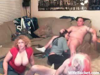 Gek amateur swinger party