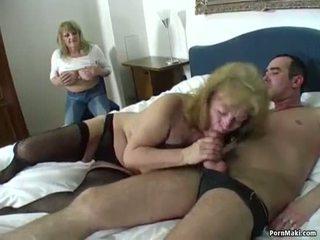 Lucky guy fucks two amazing grannies