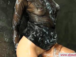 Peak drenched изпразване на лицето female slimed