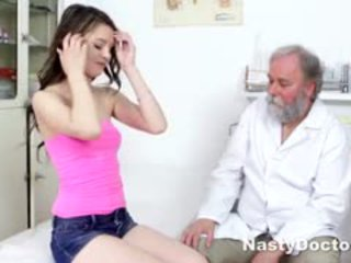 Young Brunette Comes To Gynecologist