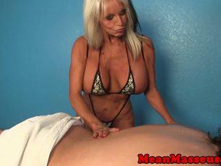 Mature Masseuse Sally Dangelo Wildly Wanking Cock: Porn 36
