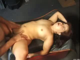 Hot dwarf grabs huge white Cock and sucks it