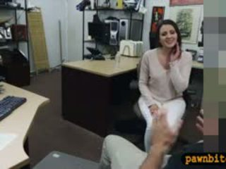 Customers Wife Fucked By Pervert Pawnkeeper In The Backroom