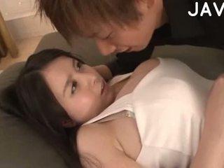 brunette, japonais, gros seins