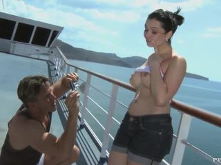 Angell summers - bj, 肛門 和 射精 後 photshoot 上 一 cruiser (hd)